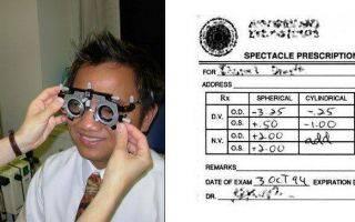 Как расшифровать рецепт на очки