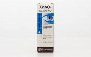 Инструкция по применению глазных капель хилопарин комод