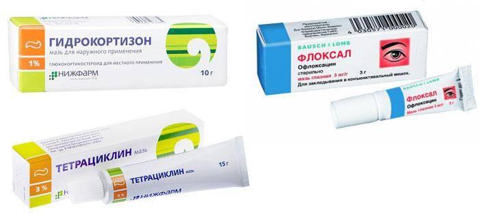 Мазь от ячменя на глазу: чем мазать у детей, какая лучшая, гидрокортизоновое глазное средство для лечения, как им лечить, помазать