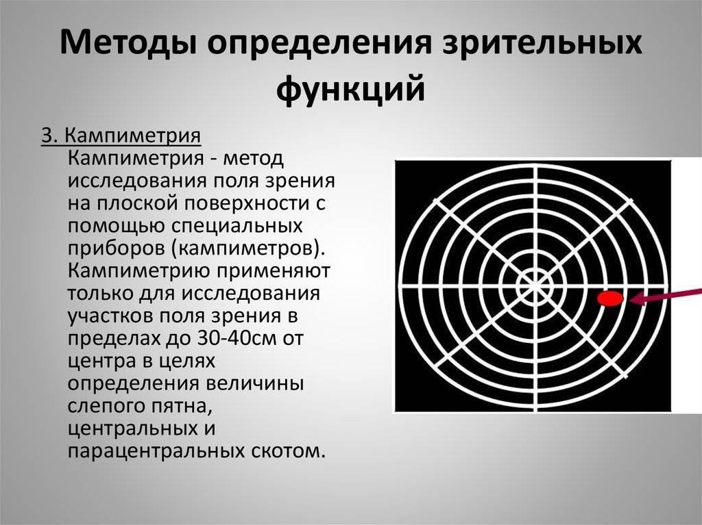 Функции зрительного анализатора и методика их исследования