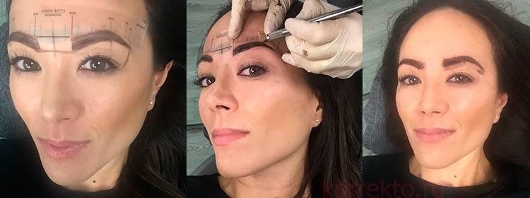 Татуаж бровей. как выглядят брови сразу после процедуры и через месяц. результаты