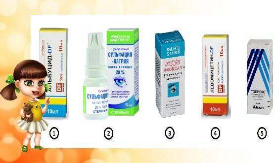 Чем лечить конъюнктивит у ребенка 5 лет, в 6 и 7, особенности лечения в этом возрасте