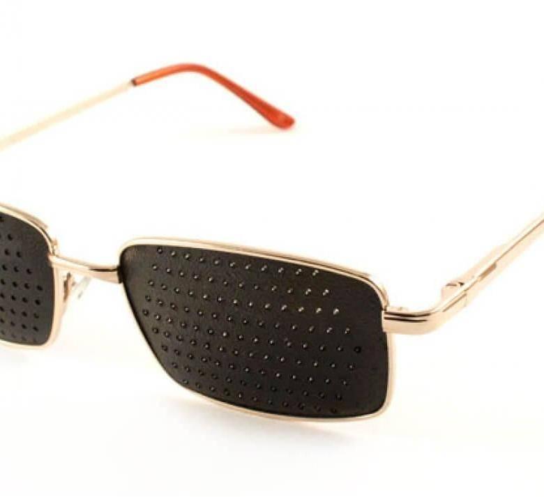 Очки с дырочками для улучшения зрения: инструкция, показания и противопоказания к применению