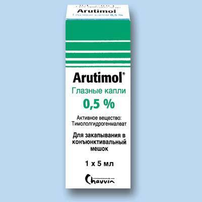 Арутимол - глазные капли: инструкция по применению, аналоги, состав