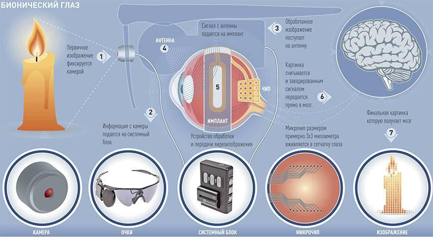 Бионический глаз человека