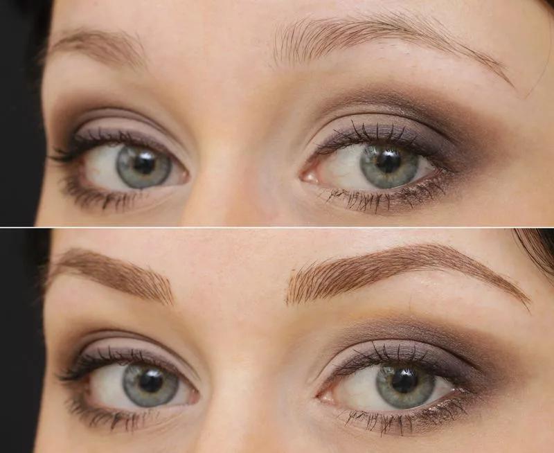 Волосковый татуаж бровей: фото и примеры макияжа до и после процедуры