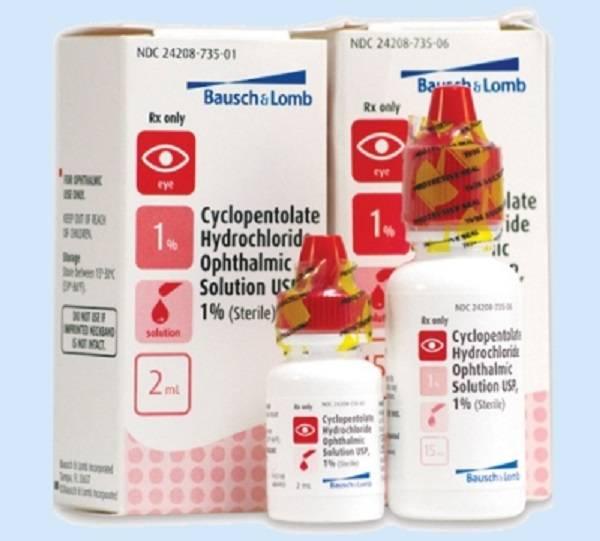 Cyclopentolate – инструкция по применению глазных капель циклопентолат