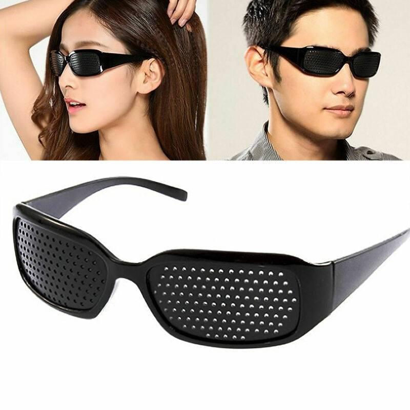 Очки-тренажёры для глаз в дырочку для улучшения зрения - отзывы про перфорационные корректирующие с глазами, для чего нужны черные