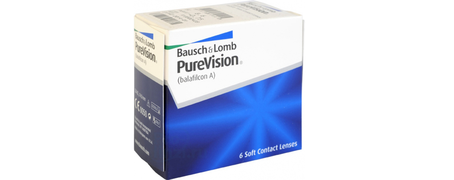 Контактные линзы purevision (6 штук)