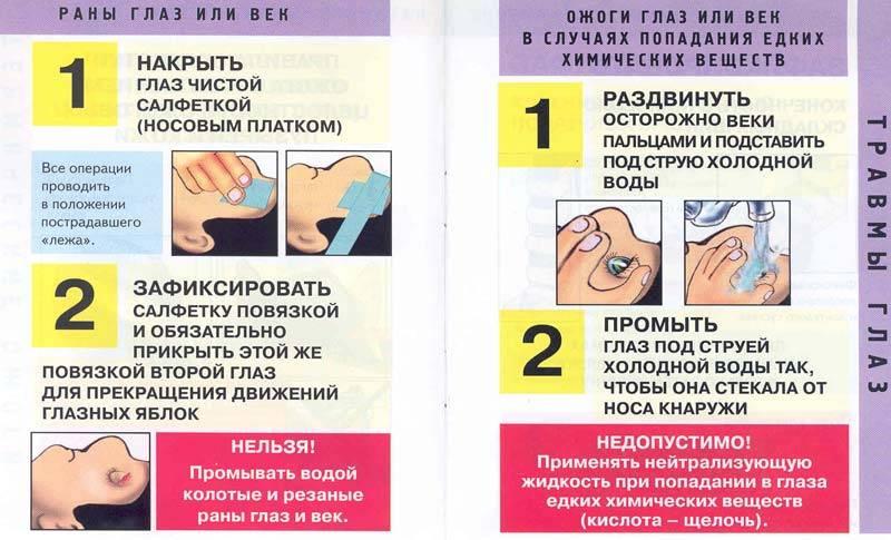Травма глаза - первая помощь при повреждении у ребенка и взрослого