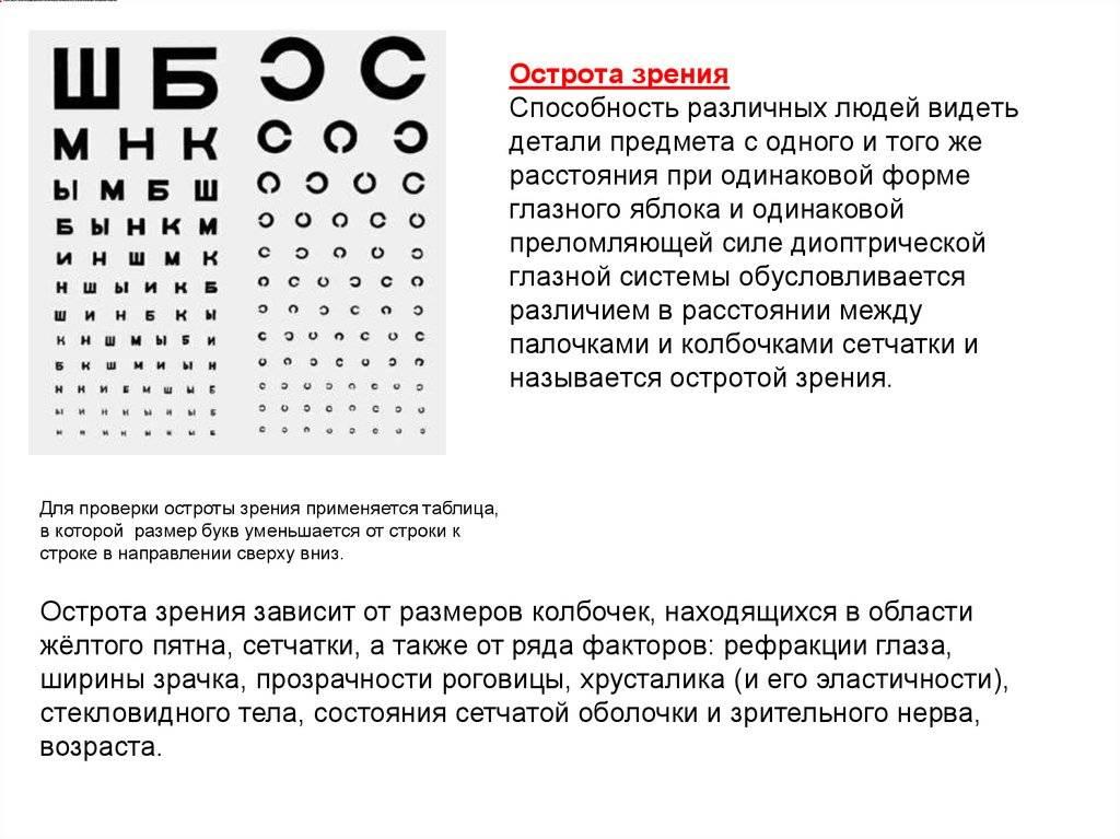 Зрение у человека 0,8