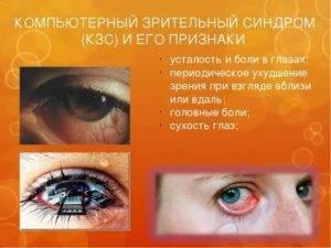Компьютерный зрительный синдром: причины, симптомы, лечение