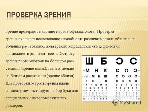 Определение остроты зрения вдаль (визометрия) - как проводится, оценка резульатов, где сделать