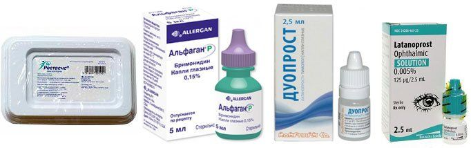 Мощное действие альфагана при глаукоме