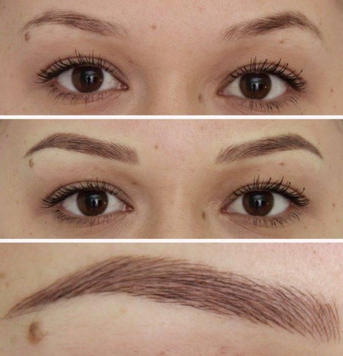 Волосковый татуаж бровей: фото до и после, отзывы, цена, сколько держиться