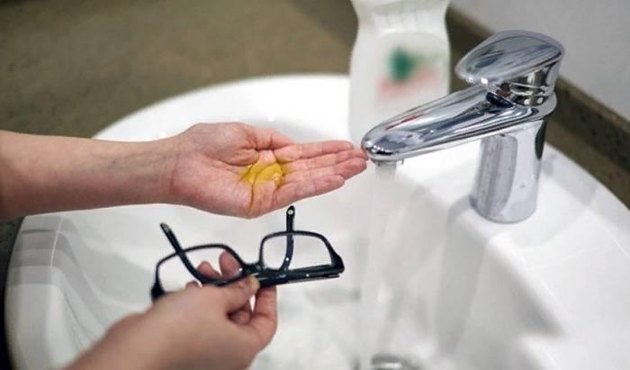 Чем почистить очки стали мутные