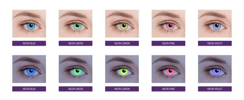 Клубные светящиеся линзы для глаз: особенности и сферы применения