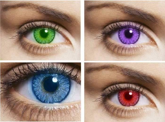 Как выбрать фиолетовые линзы