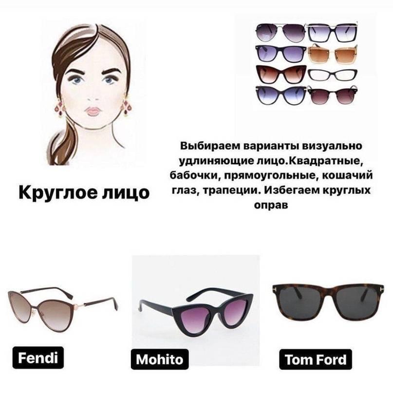 Как правильно подобрать солнцезащитные очки по форме лица?