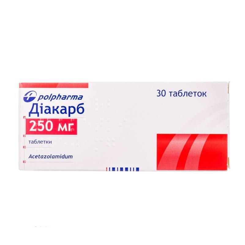 Таблетки диакарб