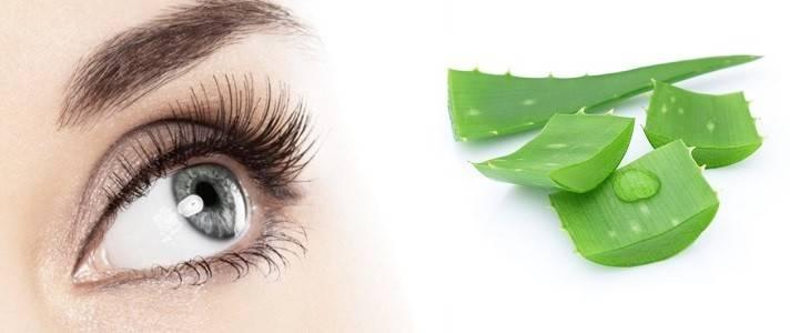 Применение алоэ для кожи вокруг глаз