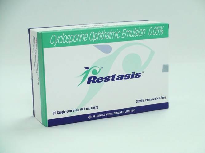 Рестасис: глазные капли – инструкция по применению, цена, отзывы больных, врачей