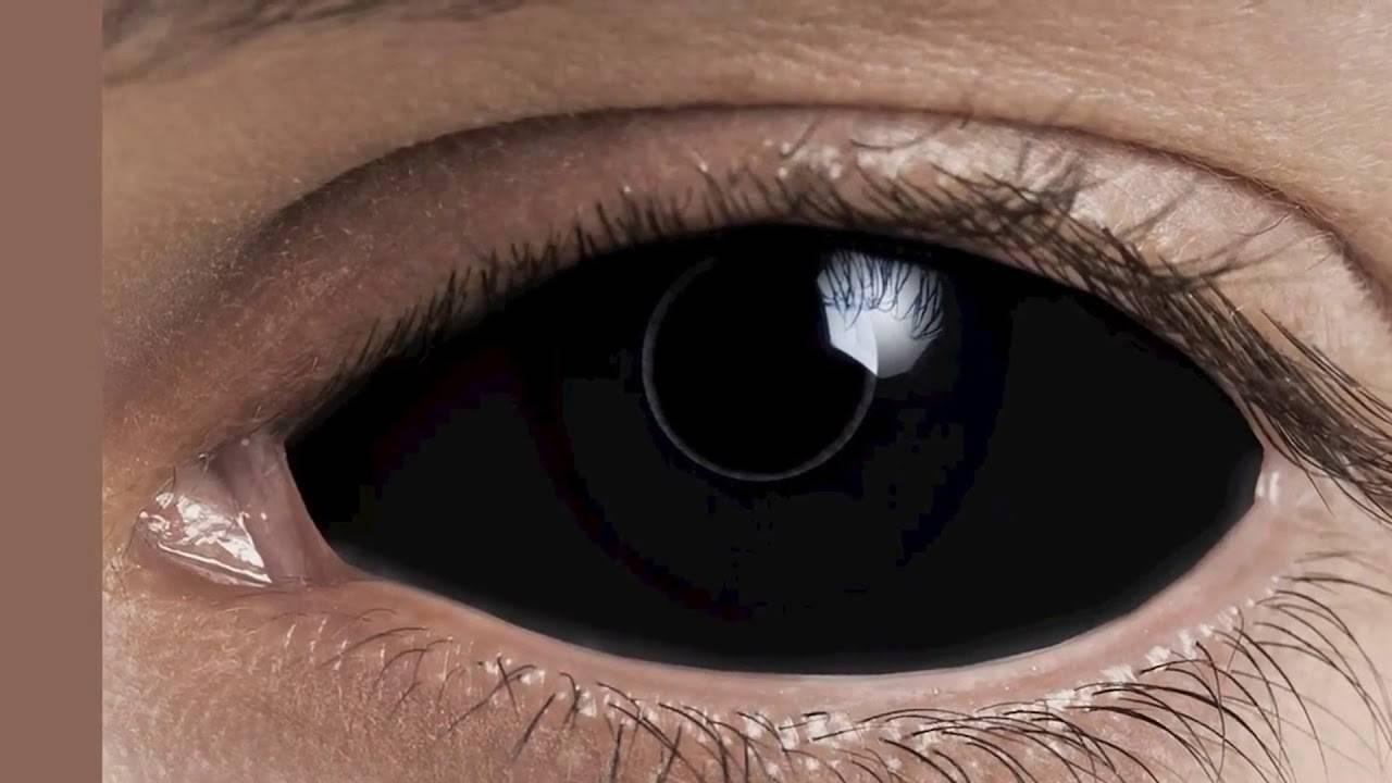 Где купить и как правильно носить черные линзы на весь глаз