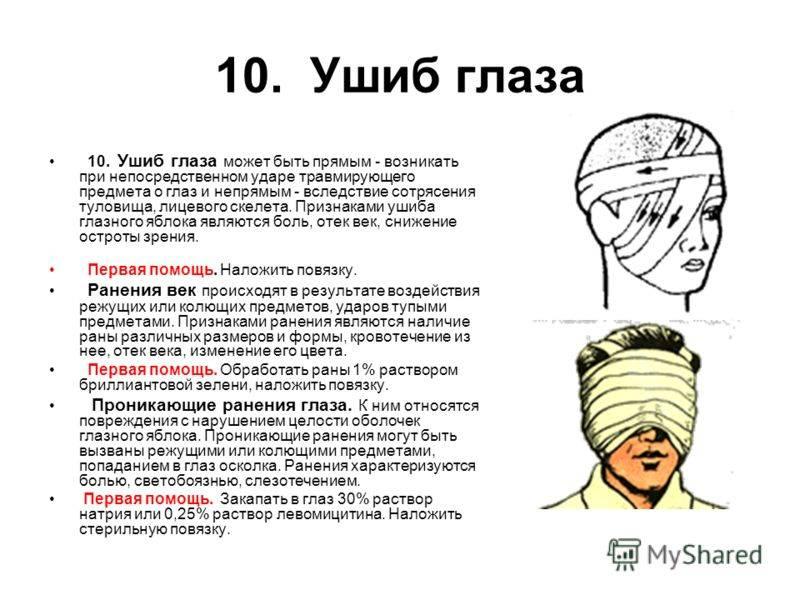 Первая помощь при травме глаза: что делать и какие действия недопустимы