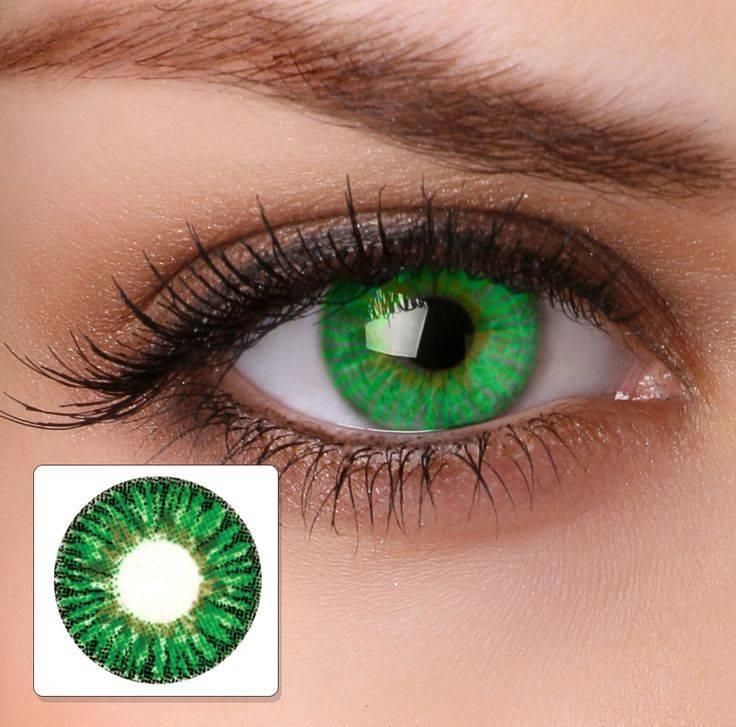 Какие цветные линзы подойдут для карих глаз: голубые, серые, зеленые, фиолетовые