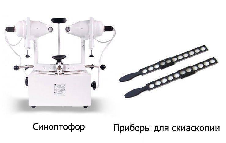 Синоптофор и прибор для скиаскопии