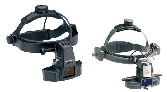 Налобные офтальмоскопы