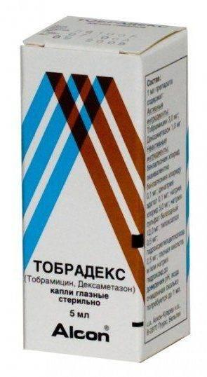 Капли Тобрадекс - упаковка