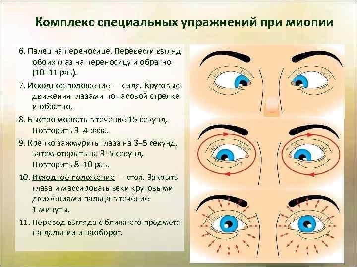 Упражнения для глаз при астигматизме у взрослых - как выполнять