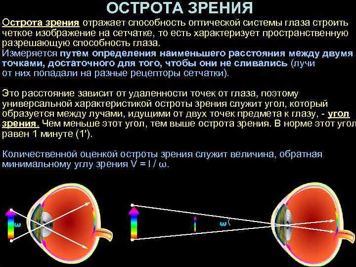 Острота зрения: проверка остроты зрения