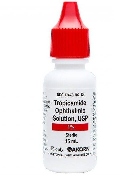 Тропикамид – эффективные глазные капли для диагностики и лечения