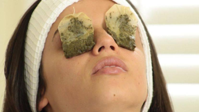 Чайные пакетики на глаза: примочки из заварки зеленого чая