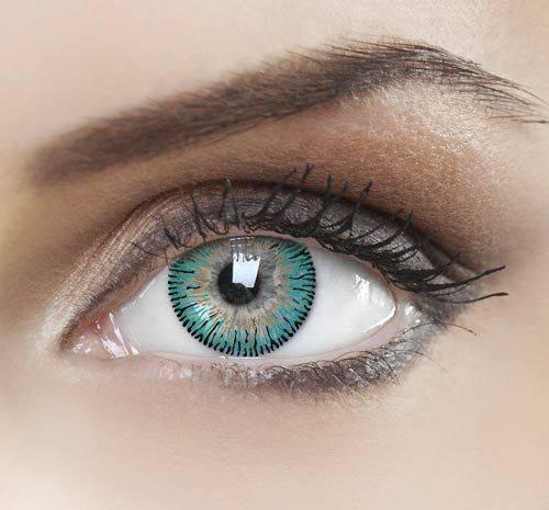 Макияж с цветными линзами для голубых, карих, зеленых и серых глаз