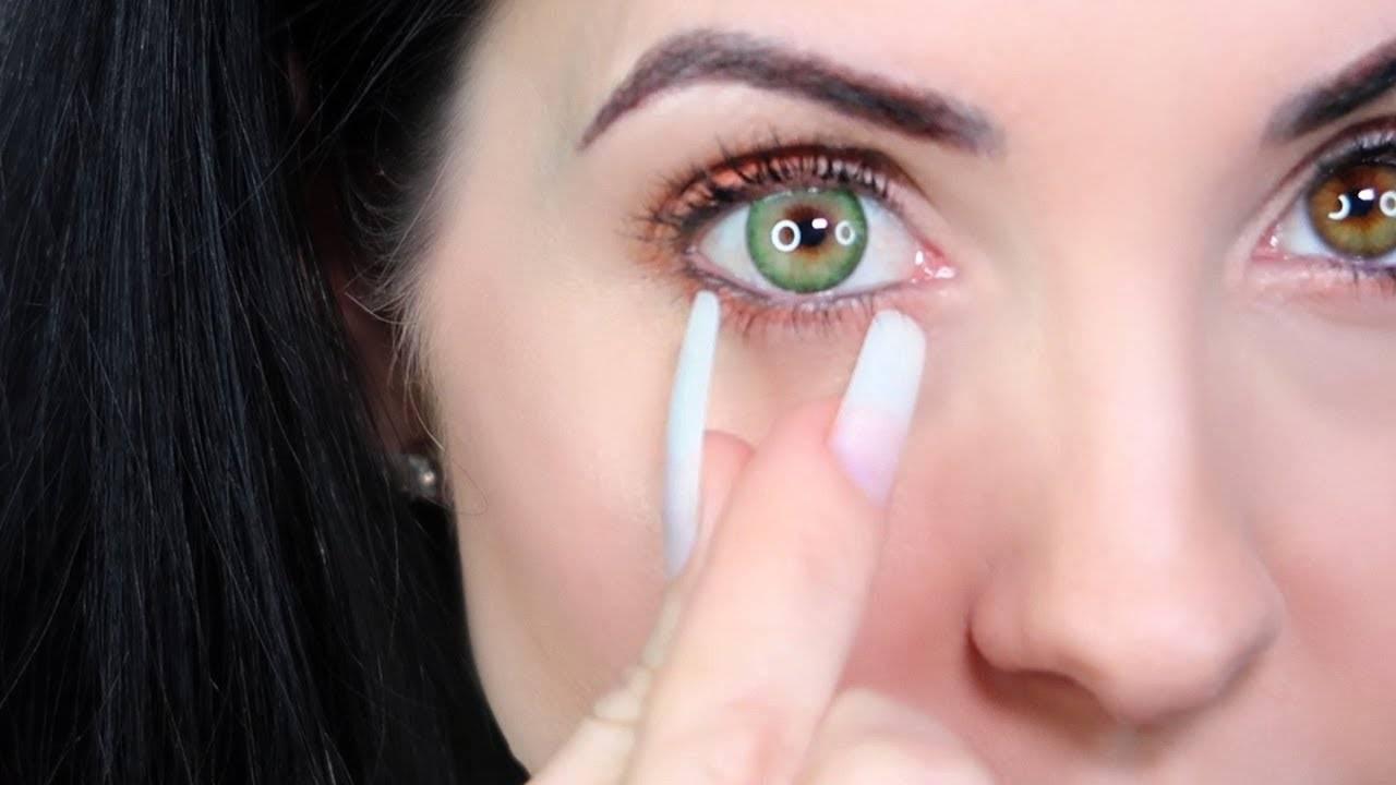 Как снимать линзы с длинными ногтями - видео