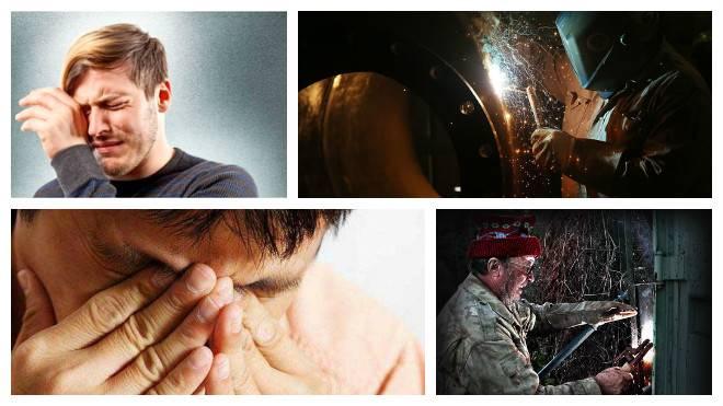 Боль в глазах после сварки: что делать и как оказать первую помощь при ожоге глаз