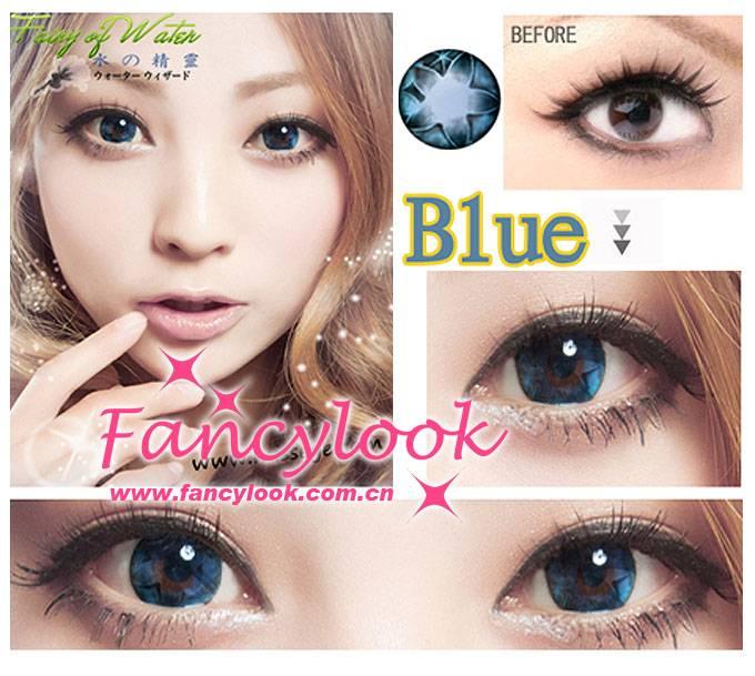 Как выглядят голубые линзы на карих глазах | образ жизни для хорошего здоровья