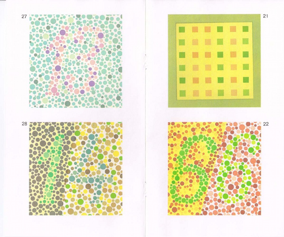 Тест на дальтонизм: 27 таблиц рабкина для проверки цветоощущения и выявления патологии