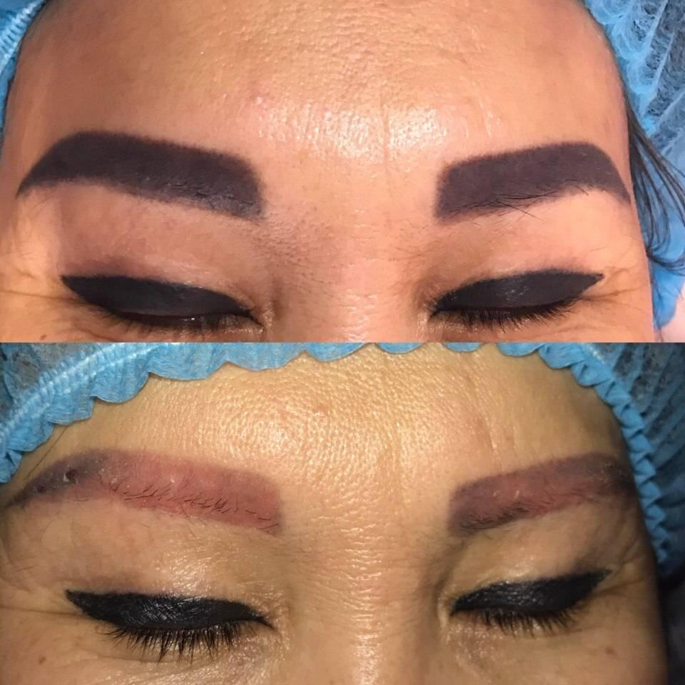 Сколько держится перманентный макияж