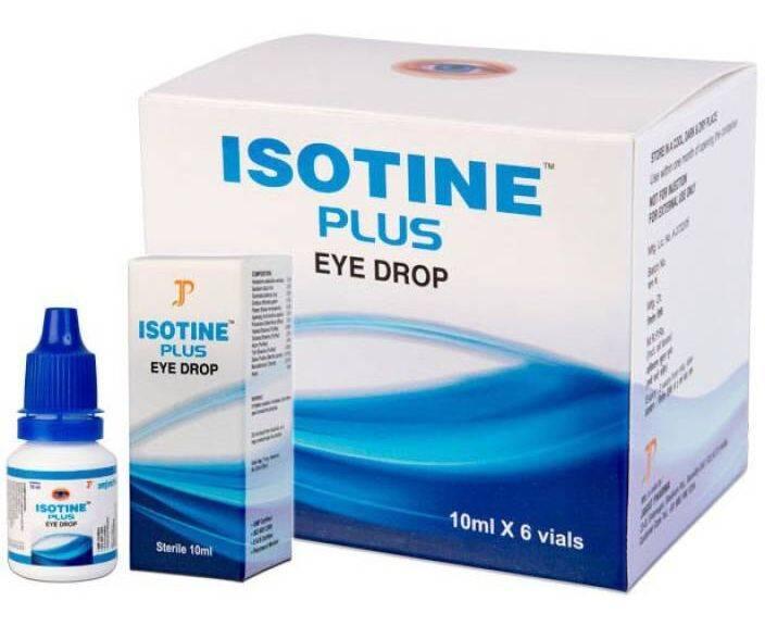 Глазные капли айсотин плюс 10 мл. джагат фарма (isotine plus eye drop jagat pharma) индия купить в москве