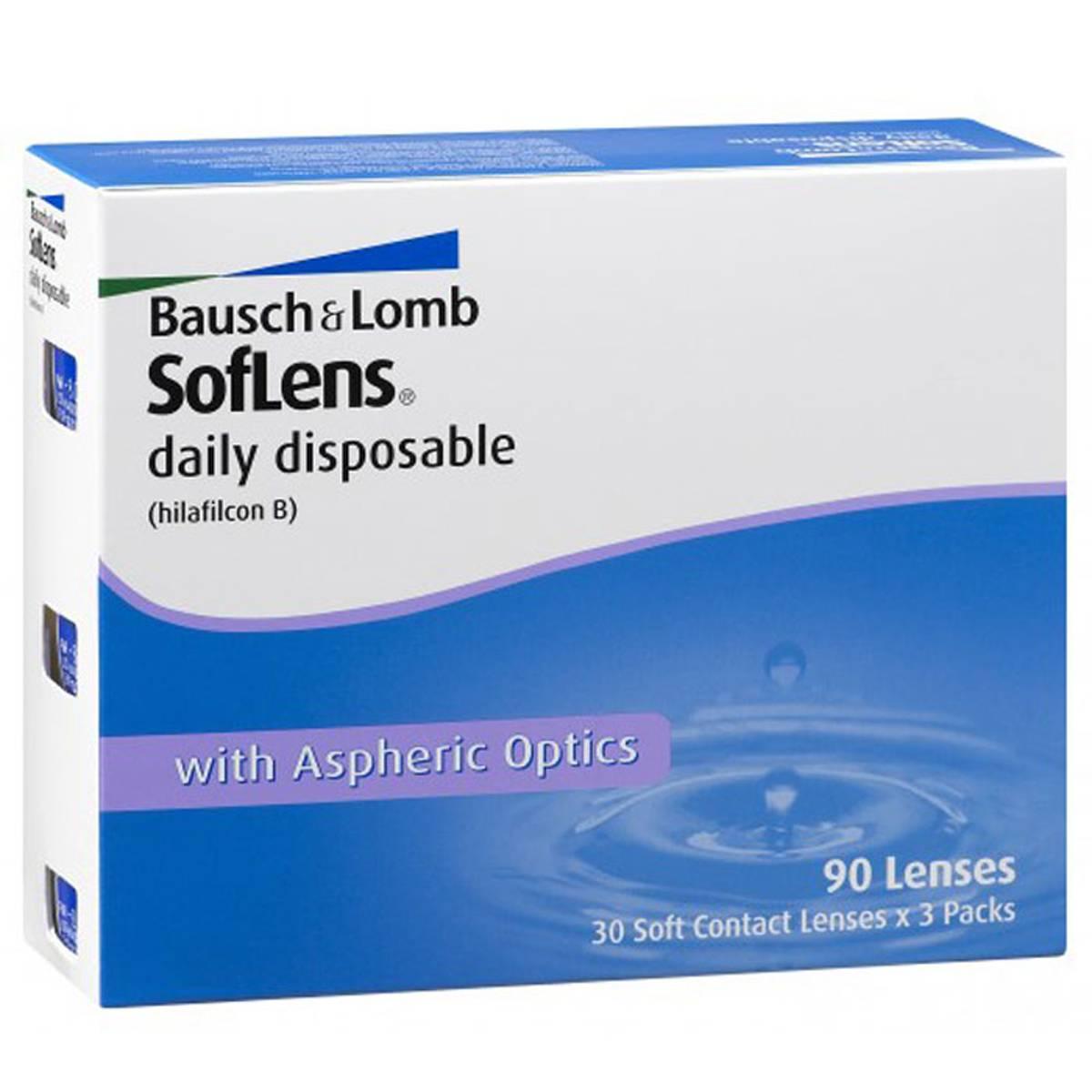 Bausch & lomb soflens daily disposable (30 линз): отзывы, описание модели, характеристики, цена, обзор, сравнение, фото