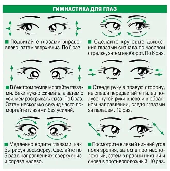 """Гимнастика для глаз: правила выполнения - """"здоровое око"""""""