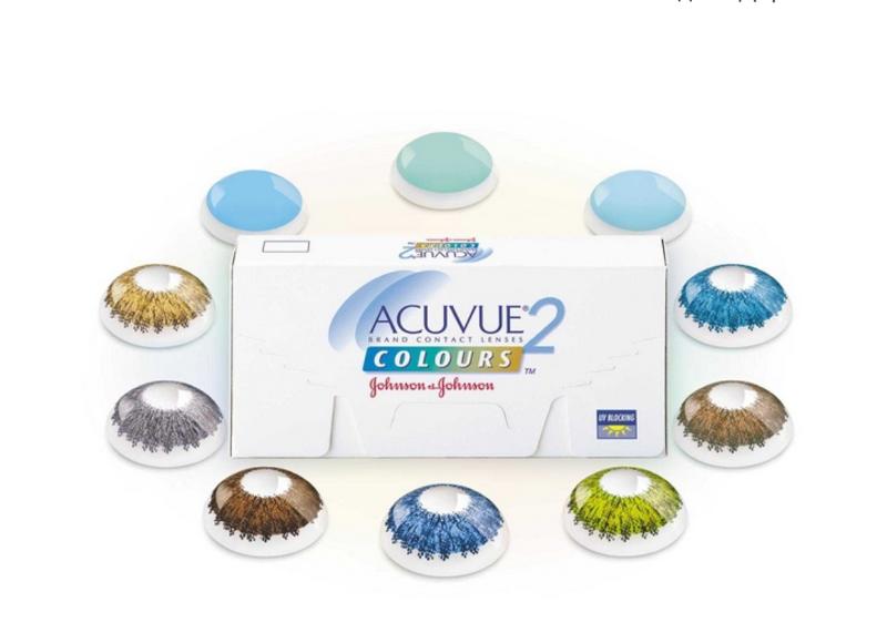 Цветные контактные линзы johnson&johnson acuvue2 colours