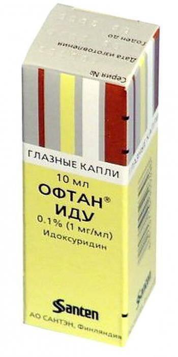 Офтан иду — глазные капли: инструкция по применению и аналоги, побочные действия препарата