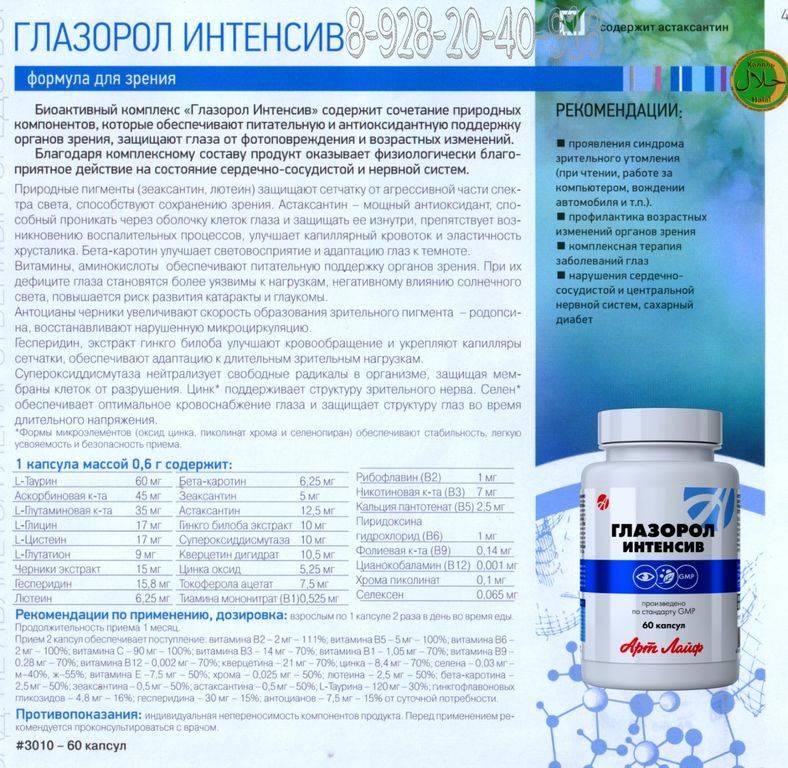Глазорол интенсив: полное описание препарата и инструкция по применению.