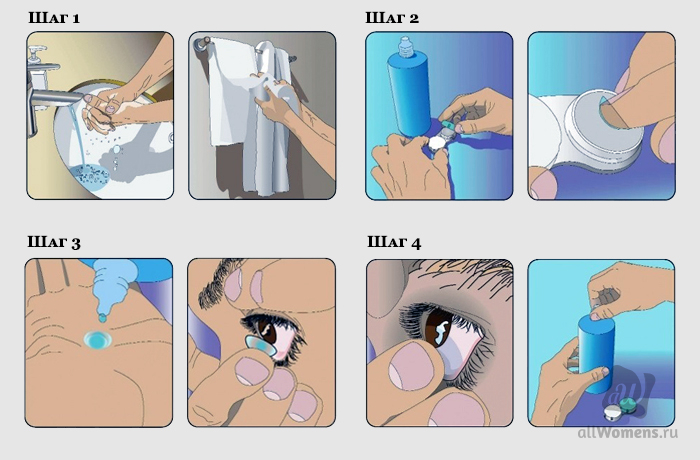 Чистка контактных линз
