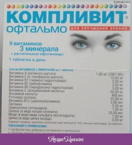 Компливит офтальмо - инструкция по применению, цена и отзывы